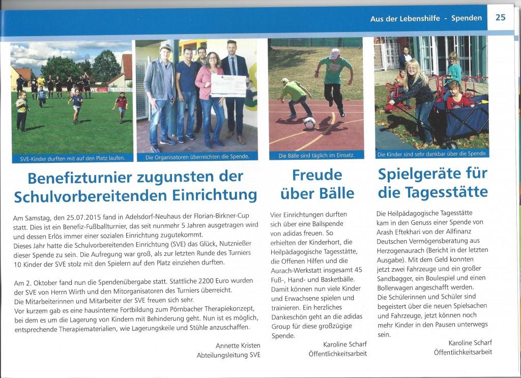 Lebenshilfe Magazin Bericht 2015