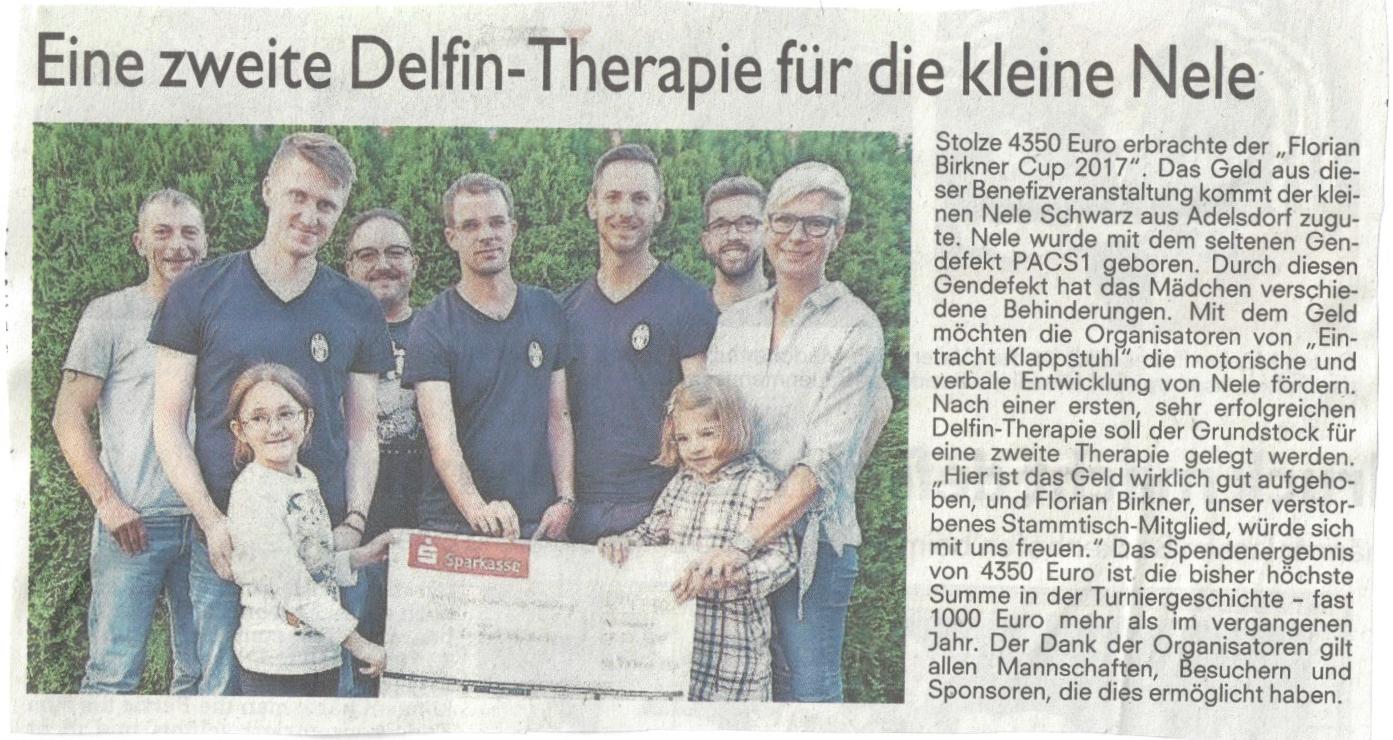Spendenübergabe 2017 – Zeitungsberichte